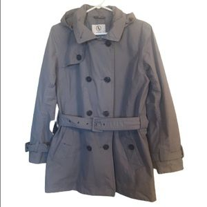 Aigle Grey Water Proof Classic Belted Trench Coat